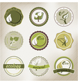 eco badges vector image