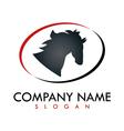 horse business logo vector image