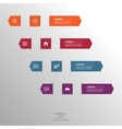 Multicolored paper stickers volume with numbers vector image