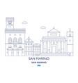 san marino city skyline vector image