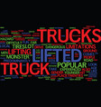 the lifted truck experience fun for everyone text vector image
