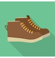 winter boots flat icon vector image