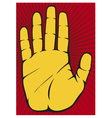 Stop Hand vector image vector image