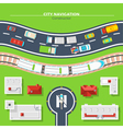 City Navigation Top View vector image