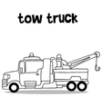 Collection transportation of tow truck vector image