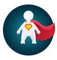 superhero cartoon personage in red mantle vector image