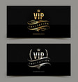golden and platinum vip invitation template vector image