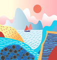 water landscape and mountains vector image