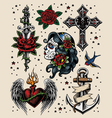 Tattoo Flash Set vector image
