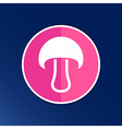 Mushroom sign icon Boletus mushroom symbol concept vector image