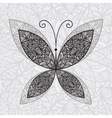 hand drawn buttefly vector image