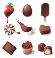 9 highly detailed chocolate icons set vector image vector image