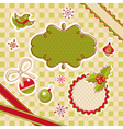 abstract cute christmas design elements vector image