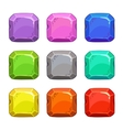 Funny cartoon colorful square buttons vector image