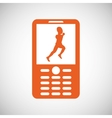 running design sport icon Isolated image vector image