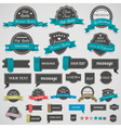 Collection of vintage labels and ribbons vector image
