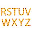Autumn leaves alphabet letters vector image vector image