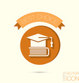 A graduate of the hat on the books icon teachings vector image