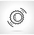 Black line solar eclipse symbol icon vector image