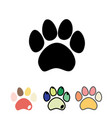 cats or dogs paws set cats and dogs paw icon vector image
