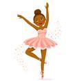 dark skinned ballerina vector image