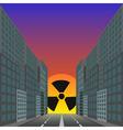 dead city vector image