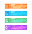 Glossy modern infographics options banner set vector image