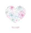 gray and pink lineart florals heart vector image
