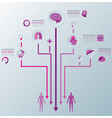 Health And Medical Infographic Infochart vector image