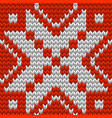nordic knitted perfect seamless pattern eps 10 vector image