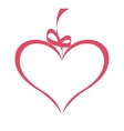 romantic heart with ribbon isolated icon design vector image