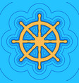 ship wheel sign sand color icon with vector image