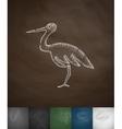 stork icon Hand drawn vector image