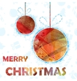 Watercolor Christmas background vector image