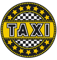 taxi label vector image