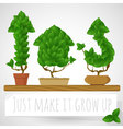 Green growing concept vector image