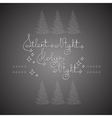 Handwritten text Silent Holy Night and Christmas vector image