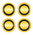 Blank Golden Badges vector image vector image