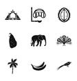 Sri Lanka icons set simple style vector image