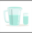 measuring cup and glass kitchenware vector image
