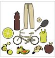 healthy life style vector image