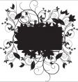 floral black vector image vector image