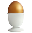 golden egg in a stand vector image