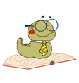 Knowledgeable Old Worm vector image vector image