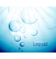 Deep water bubbles background vector image
