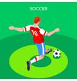 Soccer Striker 2016 Summer Games Isometric 3D vector image