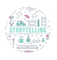 Storytelling and Creative Process Concept Line vector image vector image
