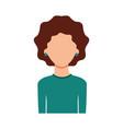 avatar woman portrait female person image vector image
