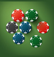 casino poker chips vector image