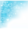 dream hearts blue background vector image